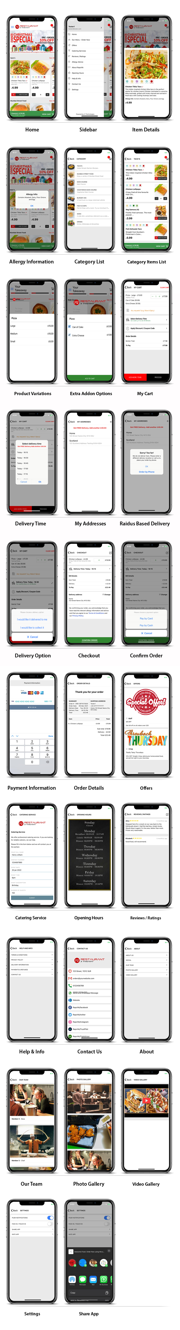 Takeaway Restaurant Online Food Ordering Delivery System (iOs, Android, Onwer App, Website & Admin) - 11