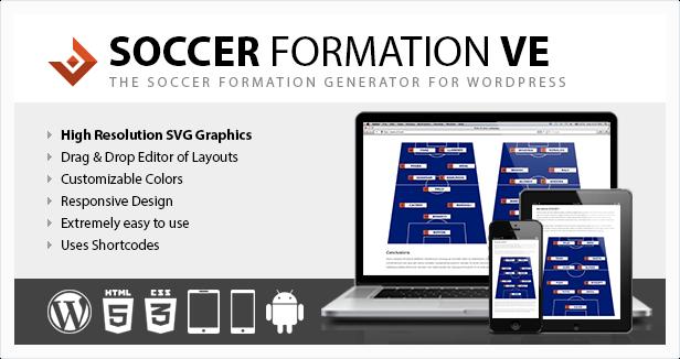 Soccer Formation VE WordPress Plugin