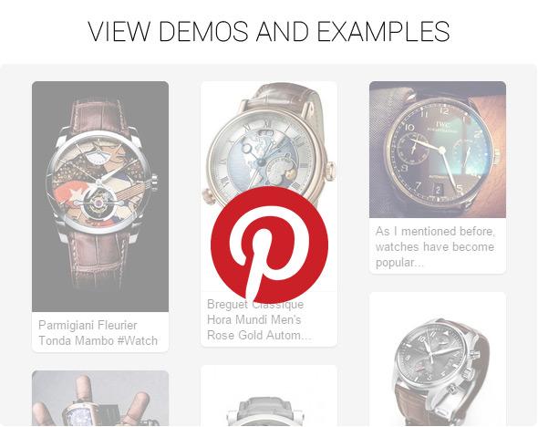 PinWorks+ WordPress Pinterest Gallery Widget - 1