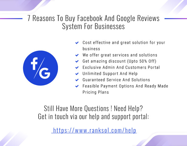 7 Reasons To Buy Facebook And Google Reviews System For Businesses