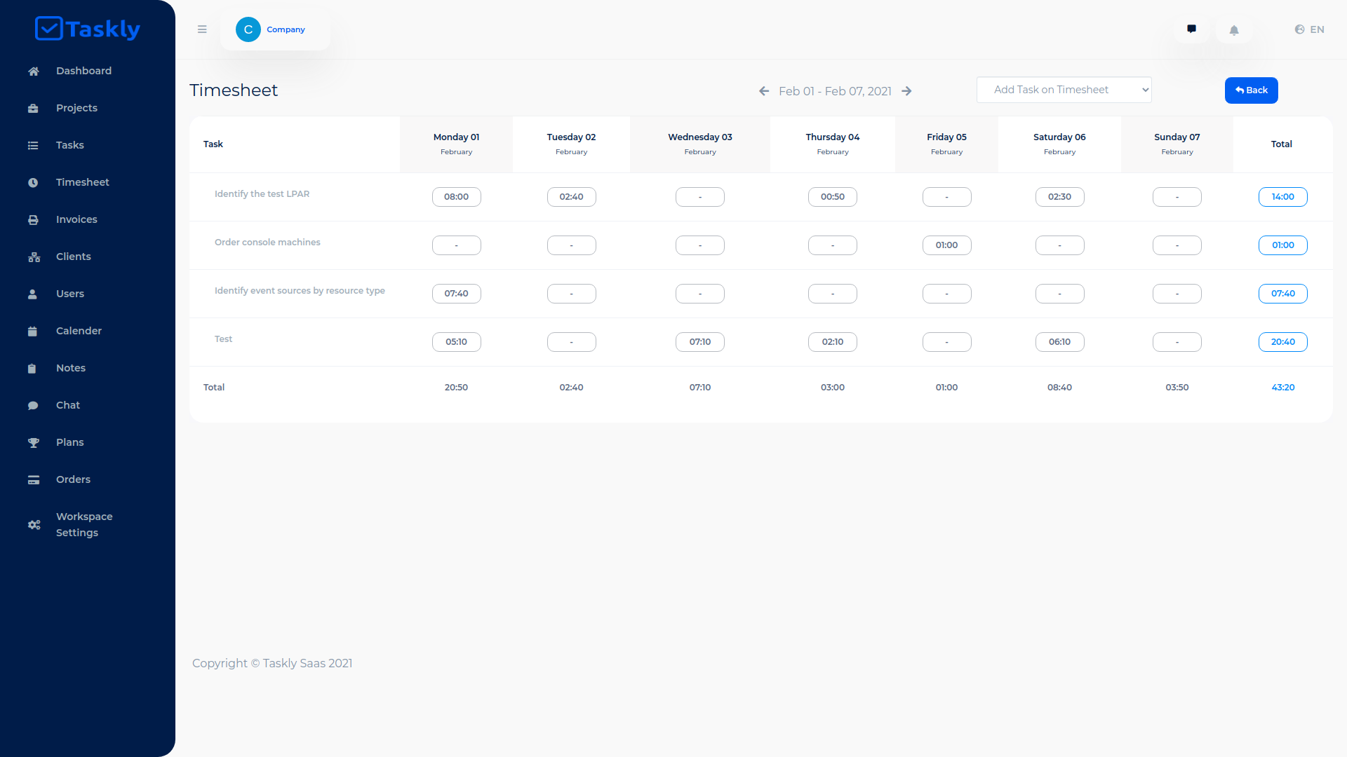 TASKLY SaaS – Project Management Tool - 8