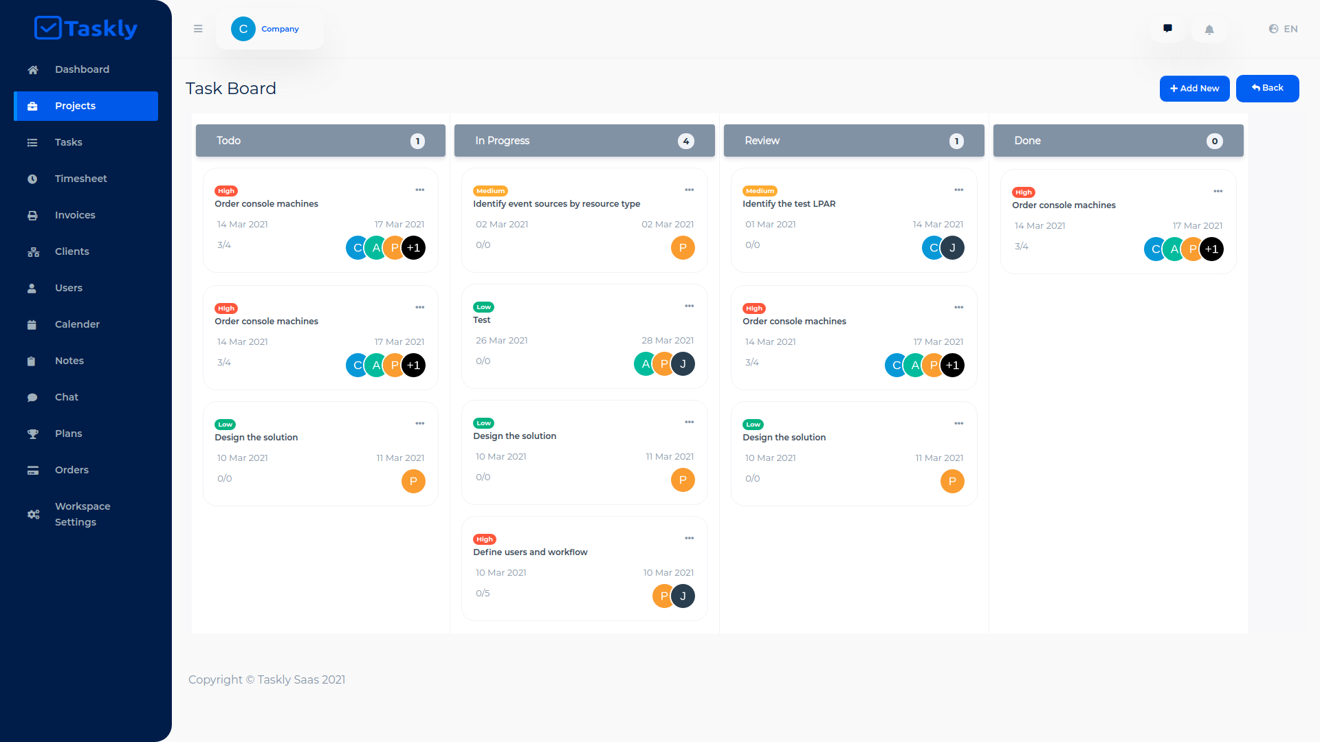 TASKLY SaaS – Project Management Tool - 9