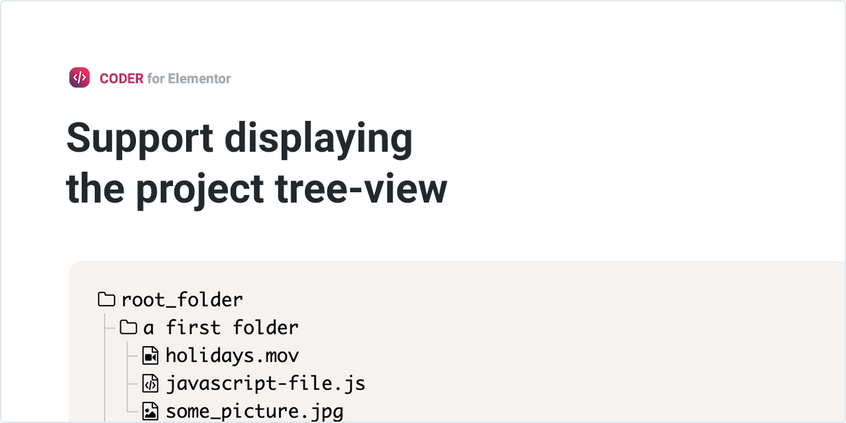 Support displaying the project tree-view