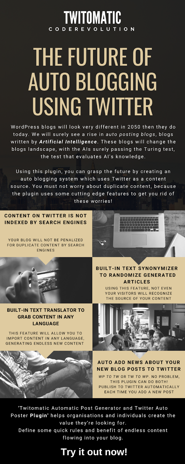 Twitomatic Automatic Post Generator and Twitter Auto Poster Plugin