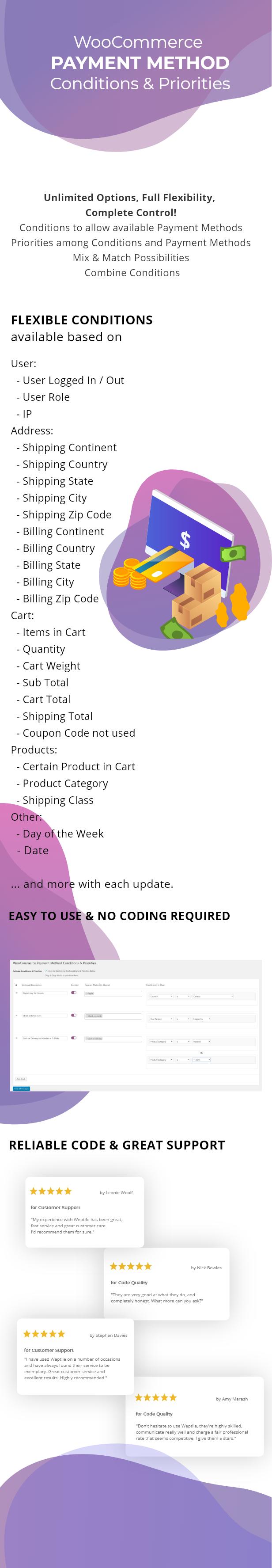 WooCommerce Payment Method Conditions & Priorities - 1