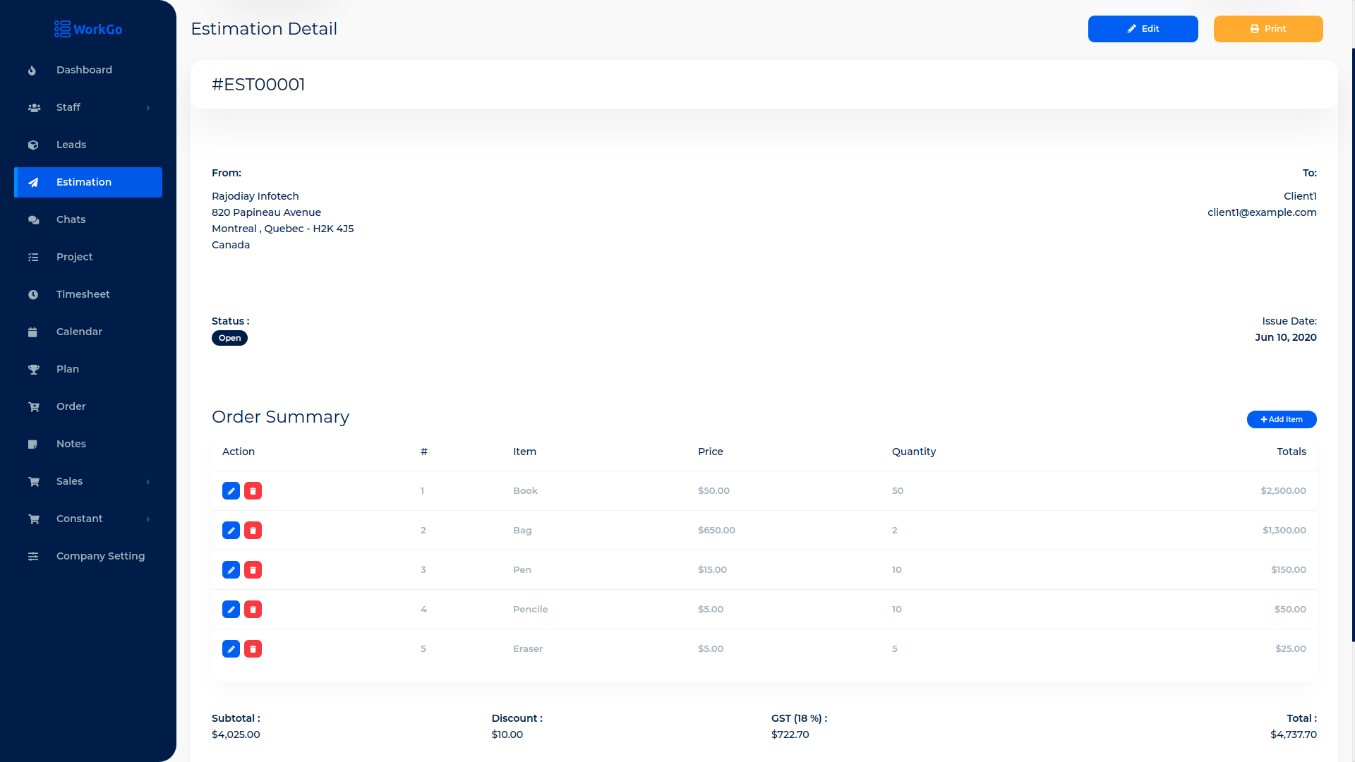 WorkGo SaaS - Lead and Project Management Tool - 7