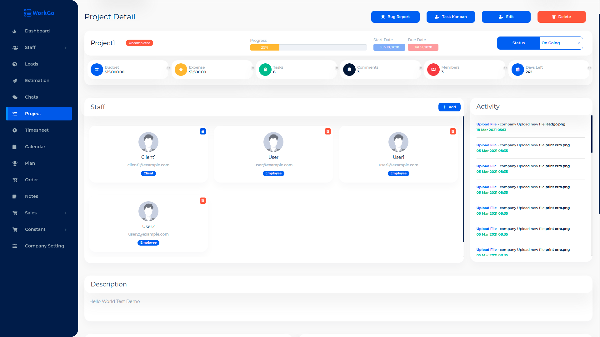 WorkGo SaaS - Lead and Project Management Tool - 9
