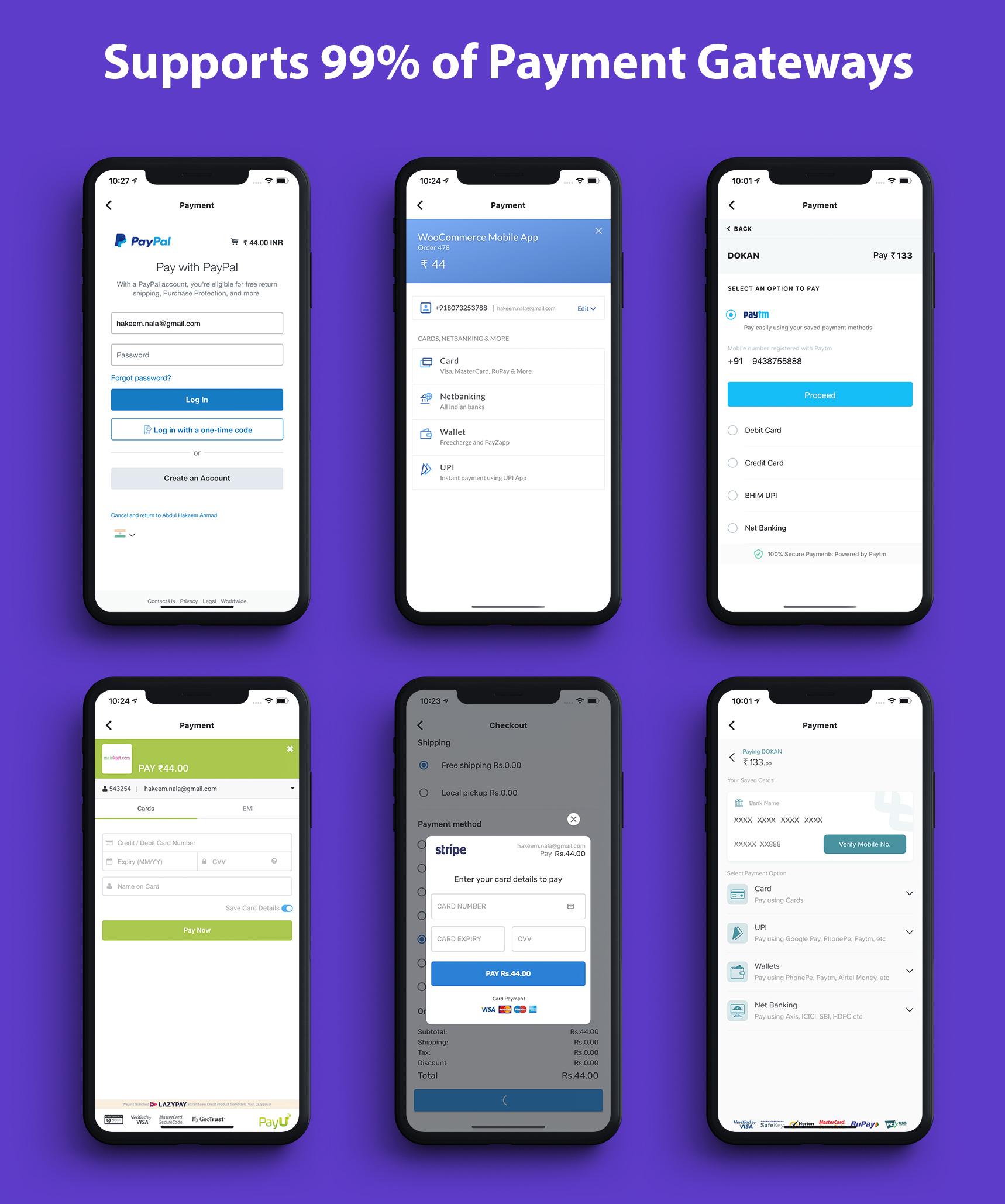 Flutter app for woocommerce - 1