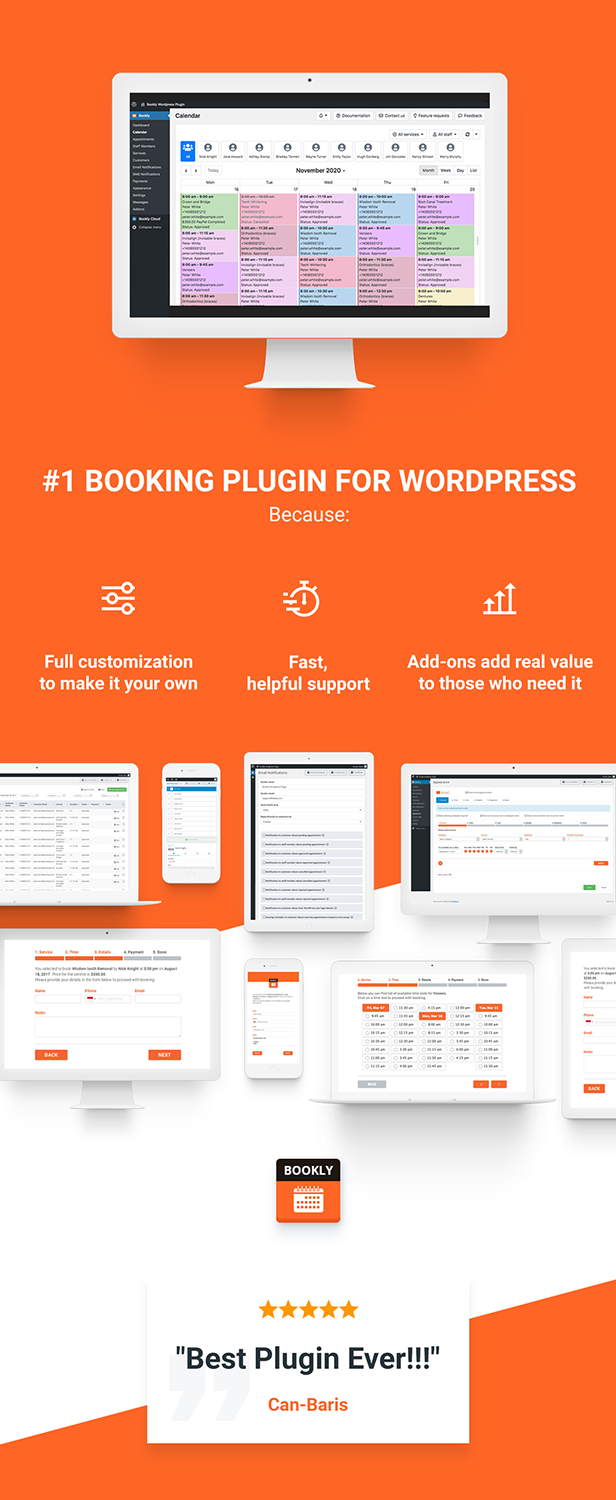 Bookly PRO –Appointment Booking and Scheduling Software System - 18