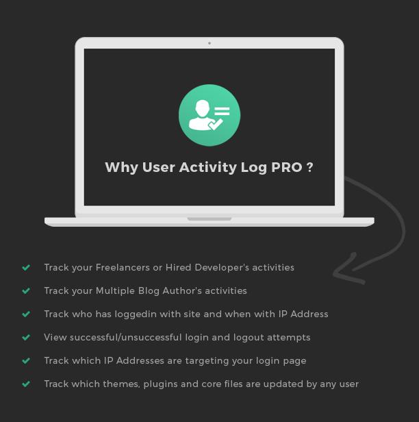 Why User Activity Log Pro WordPress plugin