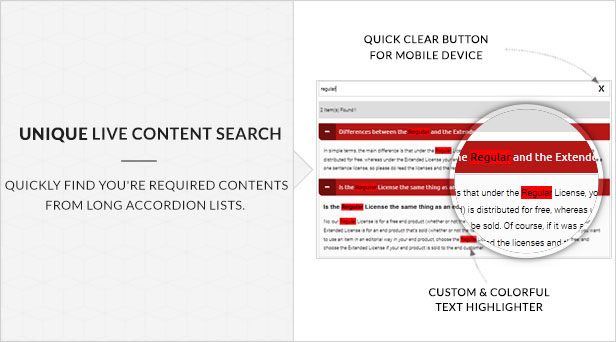 Ultimate Searchable Accordion - WPBakery Page Builder Addon - 16