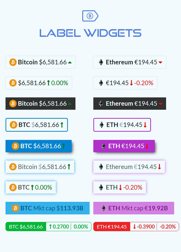 Premium Cryptocurrency Widgets | WordPress Crypto Plugin - 5