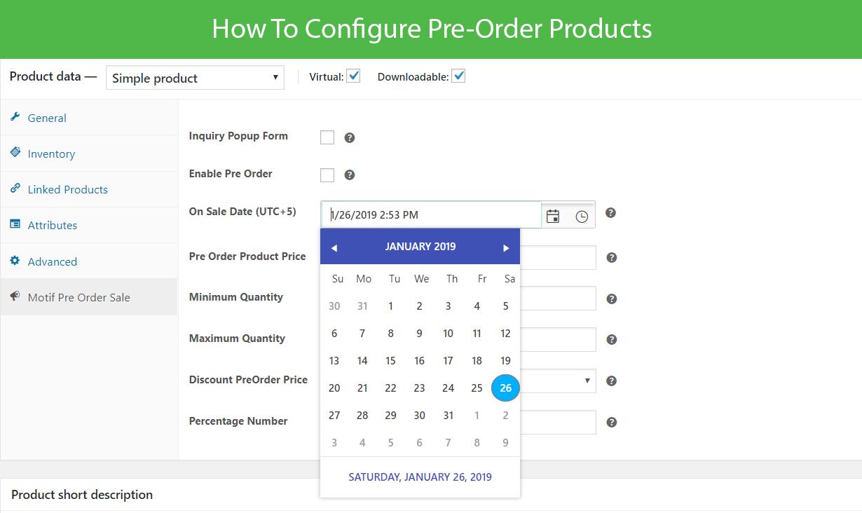 WooCommerce Pre-Order Sales