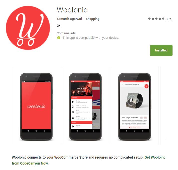 WooIonic – Ionic 3 App for WooCommerce - 1