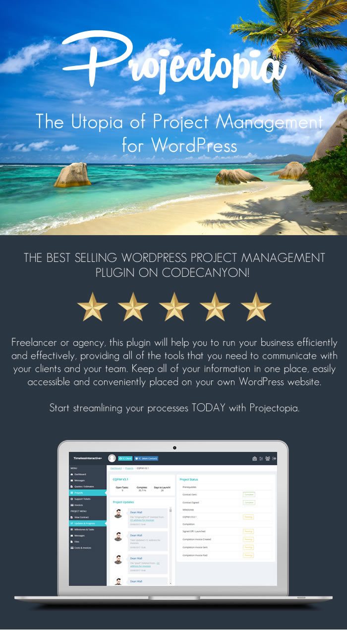 Projectopia WP Project Management - ULTIMATE VERSION - 1
