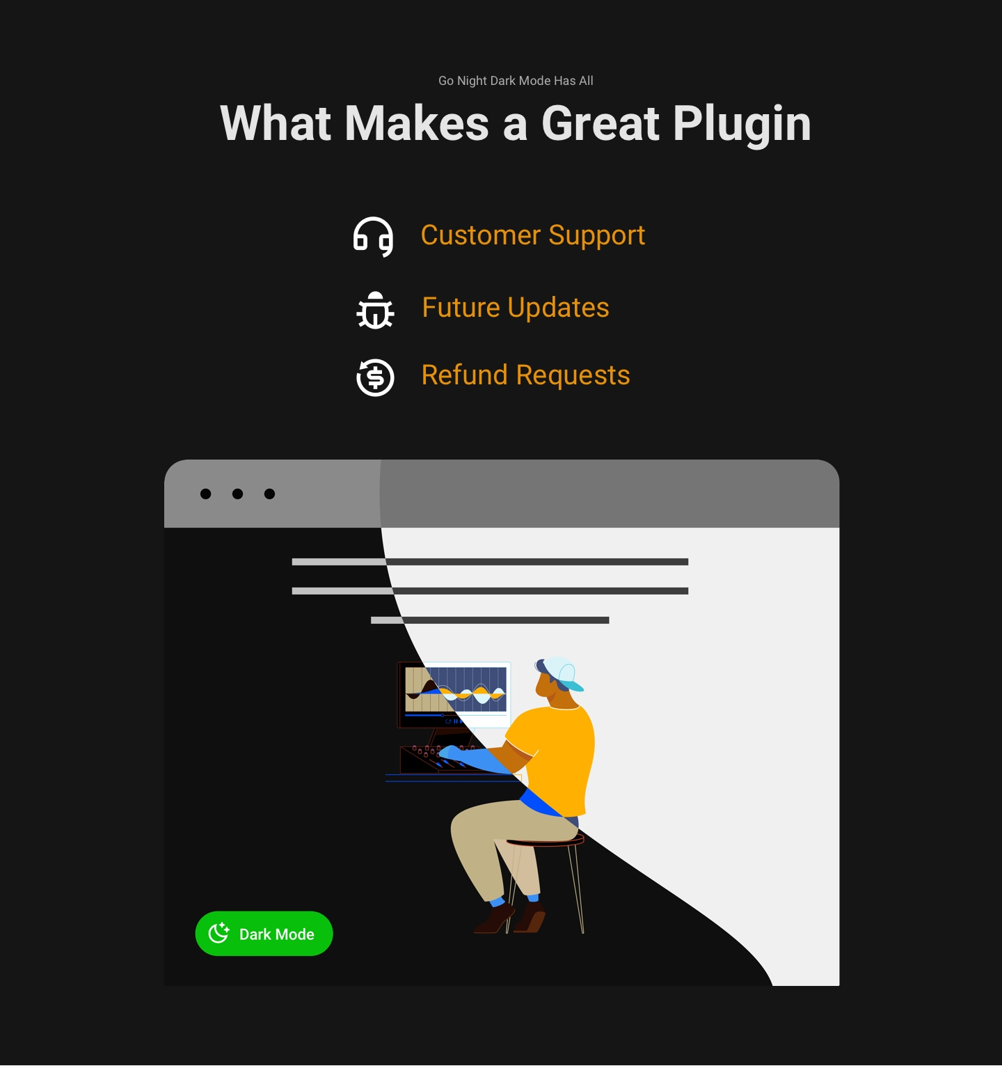 Dark Mode Plugin | Go Night Pro