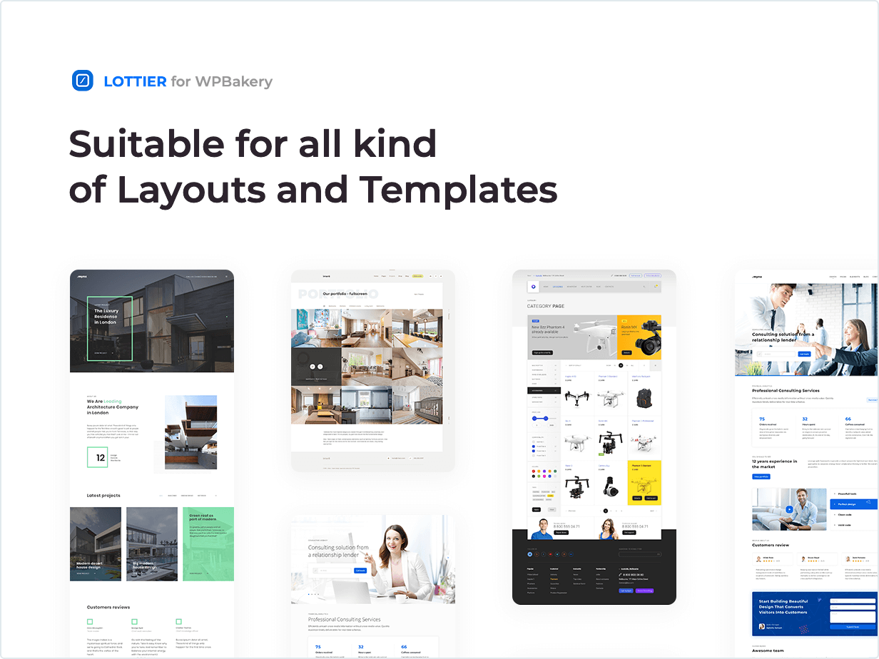 Suitable for all kind of Layout and Templates