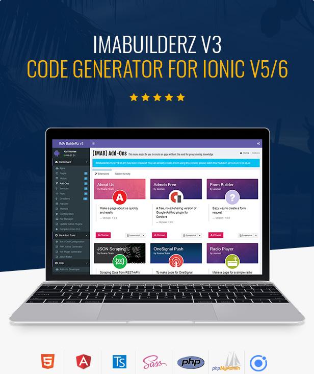 IMABuildeRz v3 - Ionic Code Generator - 2