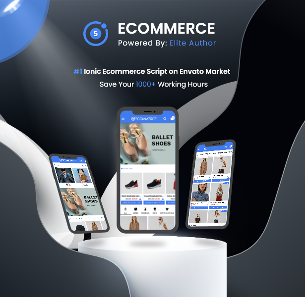 Ionic5 Ecommerce - Universal iOS & Android Ecommerce / Store Full Mobile App with Laravel CMS - 3