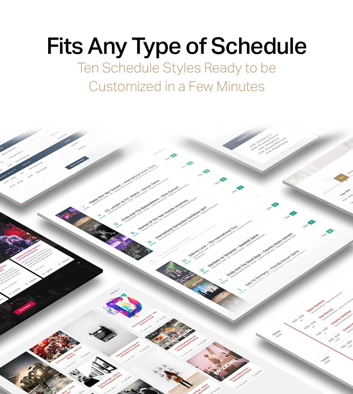 Events Schedule - WordPress Events Calendar Plugin - 7