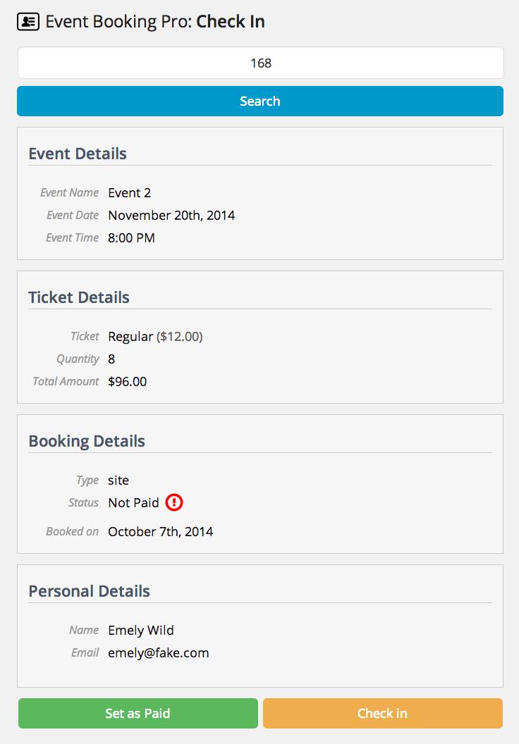 Event Booking Pro: Analytics & Checkin Addon - 5