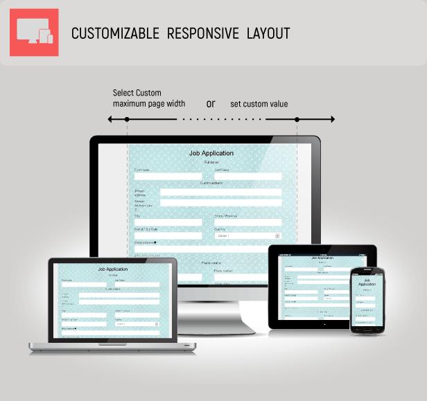 Customizable responsive layout