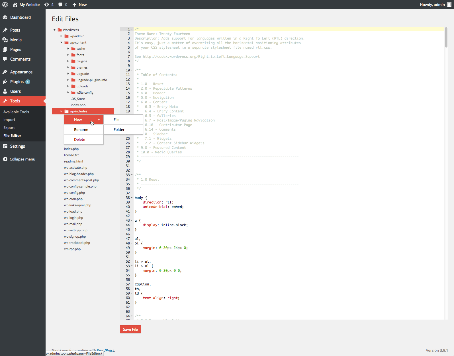 Fresh File Editor - WordPress Plugin - 7