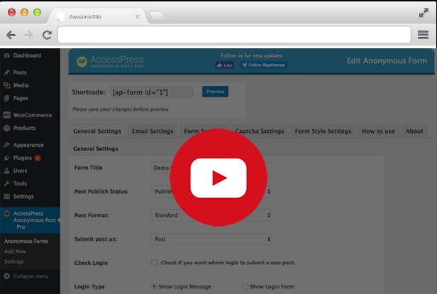 AccessPress Anonymous Post Pro - Frontend Publishing WordPress Plugin - 5