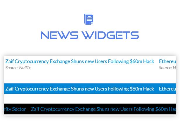 Premium Cryptocurrency Widgets | WordPress Crypto Plugin - 25