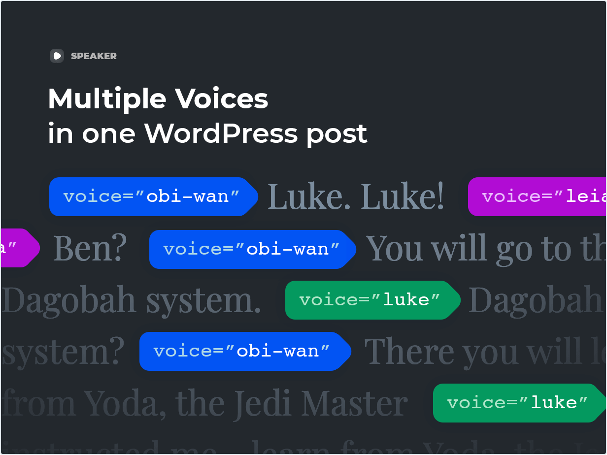 Multiple voices in one WordPress post