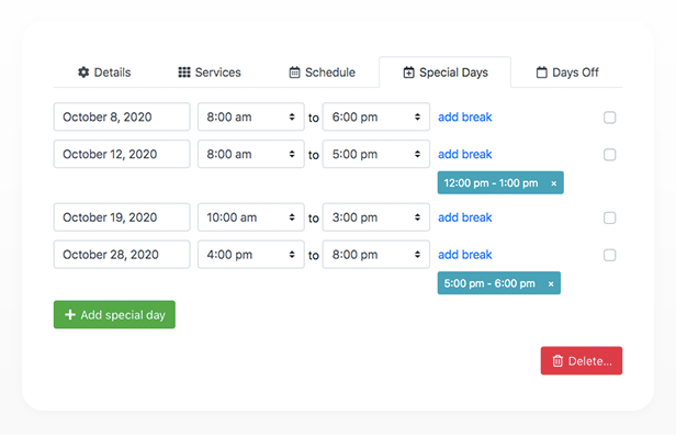 Bookly PRO –Appointment Booking and Scheduling Software System - 348
