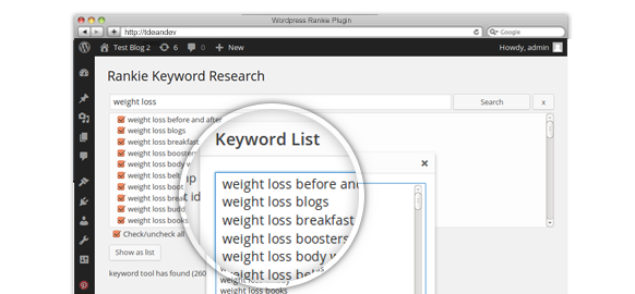 wordpress rank tracker research