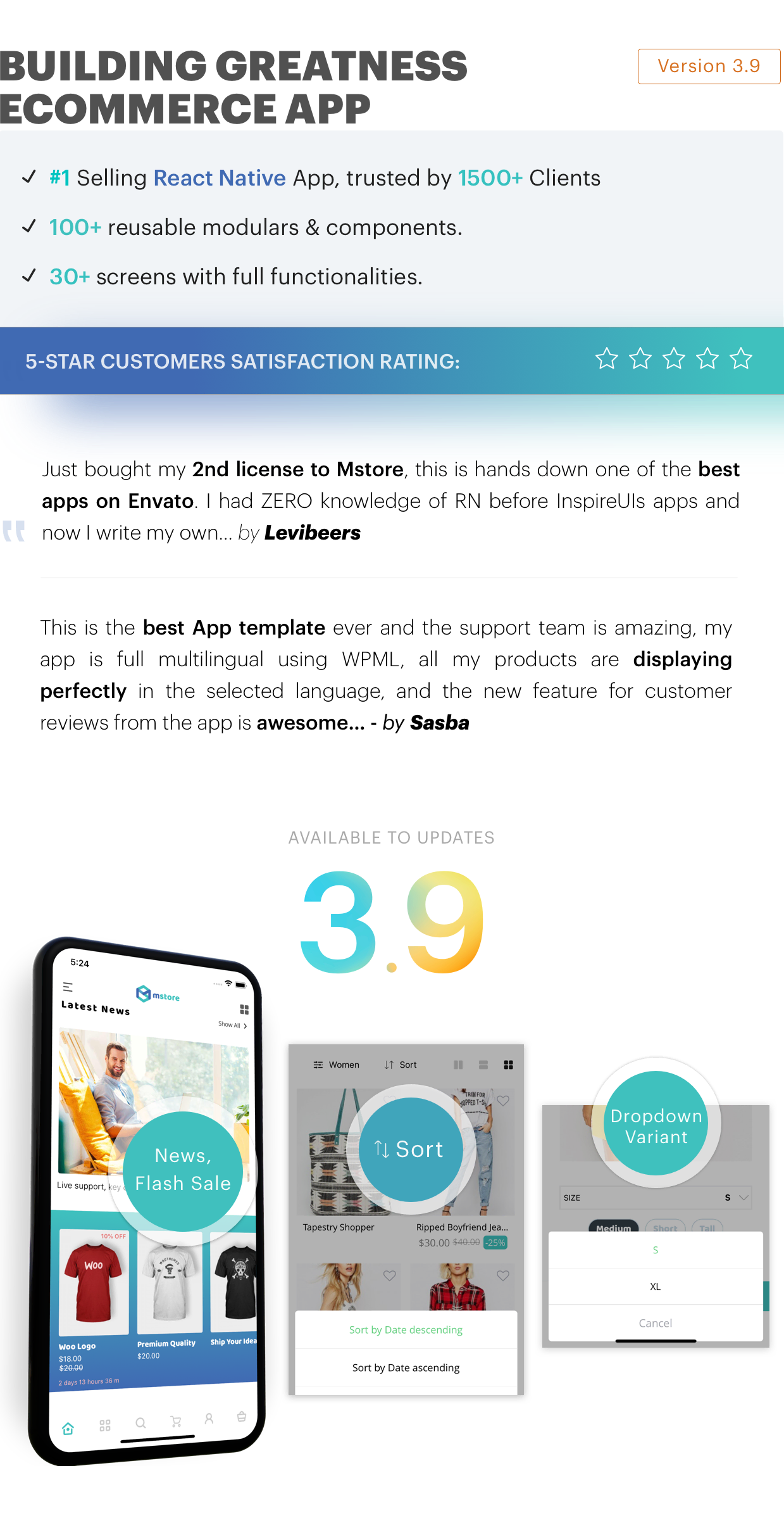 Mstore Expo - Complete React Native template for WooCommerce - 6