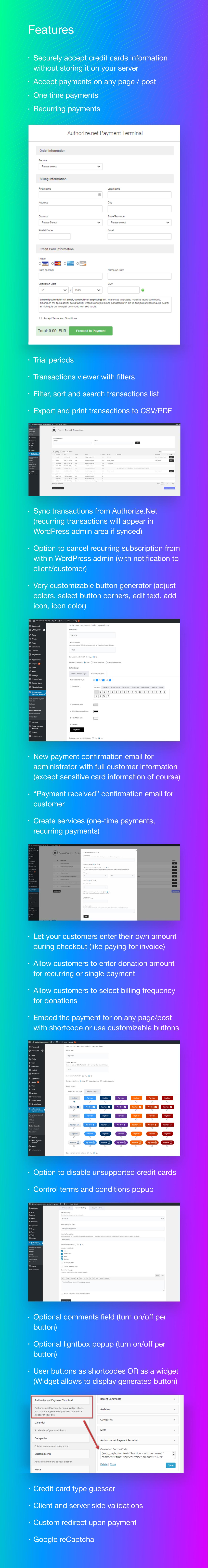 Authorize.Net Payment Terminal WordPress - 6