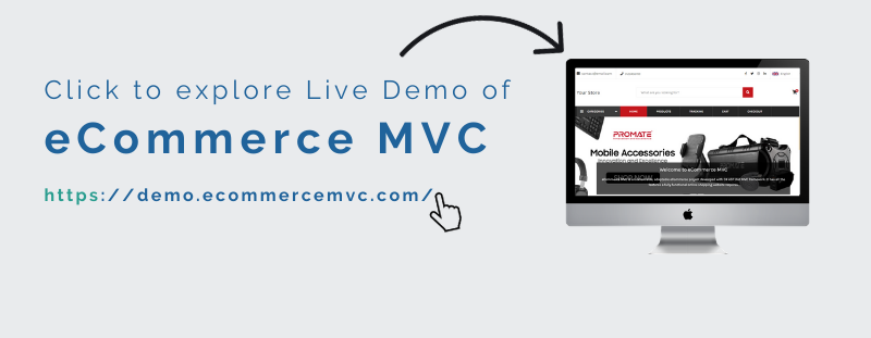 Live Demo link of eCommerce MVC
