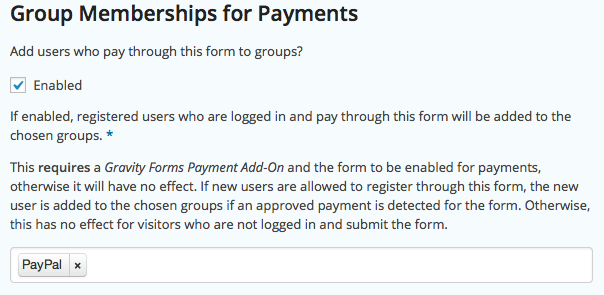 Group Memberships for Payments