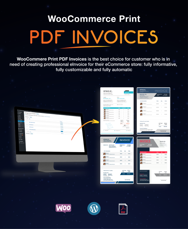 WooCommerce PDF Invoices Pro - 1