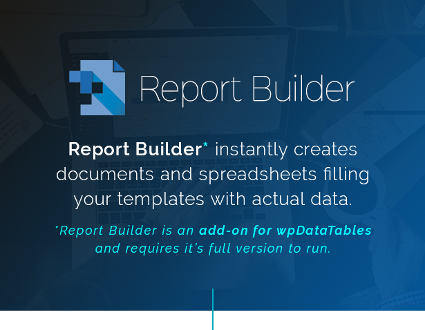Report Builder add-on for wpDataTables - Generate Word DOCX and Excel XLSX documents - 1