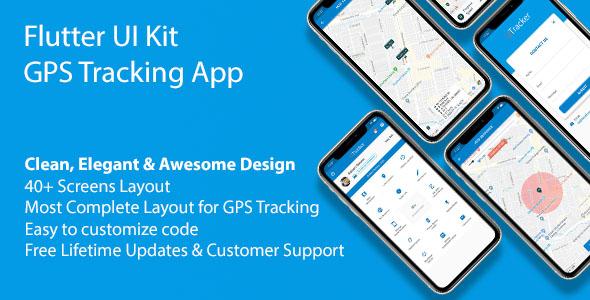 flutter ui kit gps tracking app
