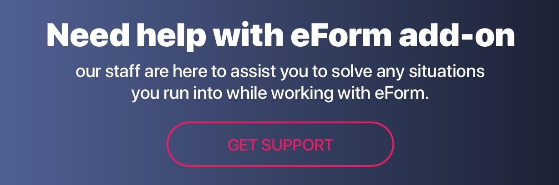 eForm support