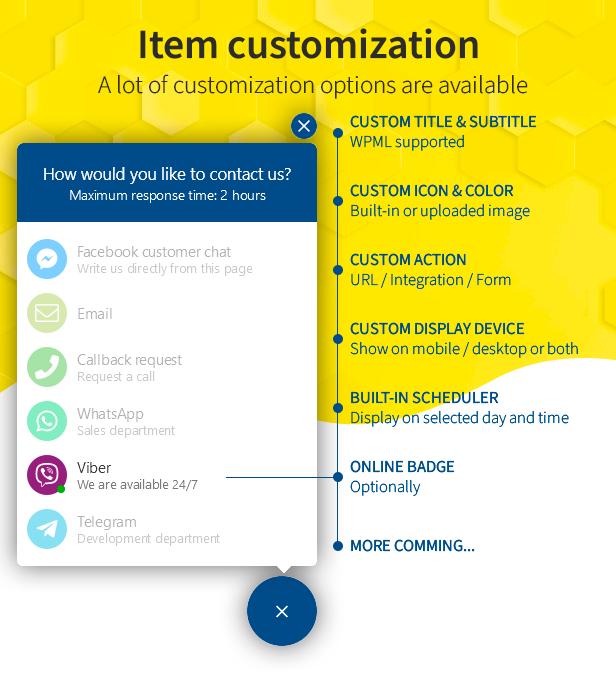 item customization