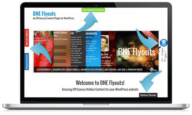 Flyouts - Off Canvas Custom Content for WordPress - 1