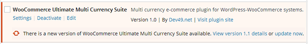 WooCommerce Ultimate Multi Currency Suite - automatic updates