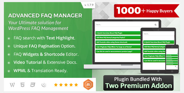 BWL Advanced FAQ Manager