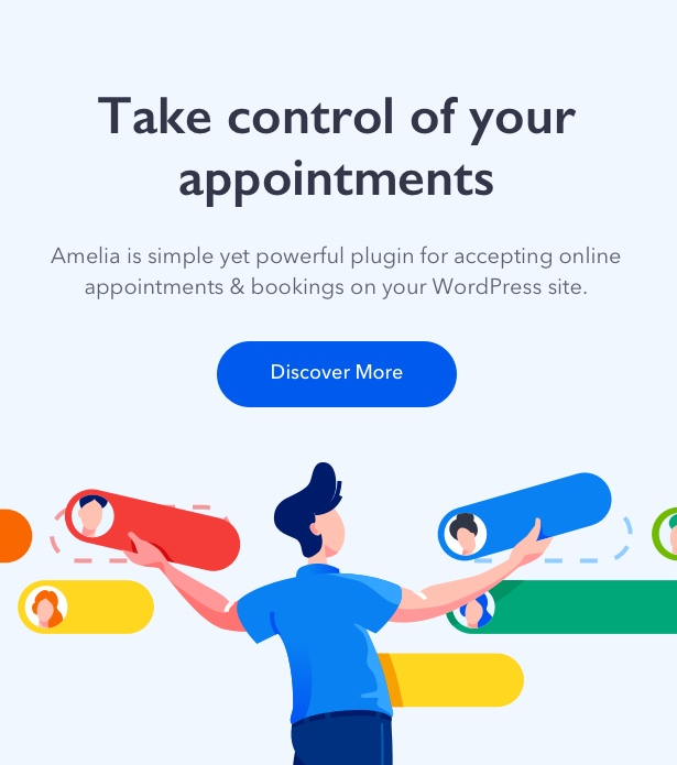 Amelia - Enterprise-Level Appointment Booking WordPress Plugin - 1