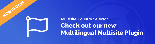 Multilingual Multisite Country Selector
