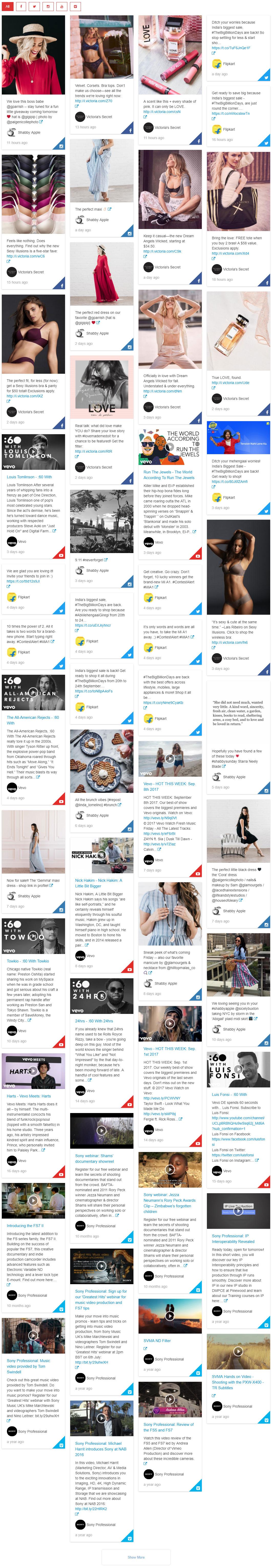 Social Streams - visual composer