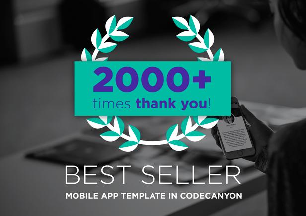 best seller mobile app template