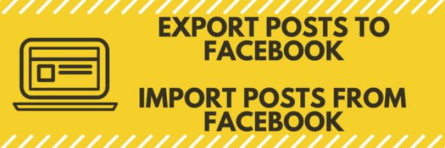 Import/Export posts from Facebook