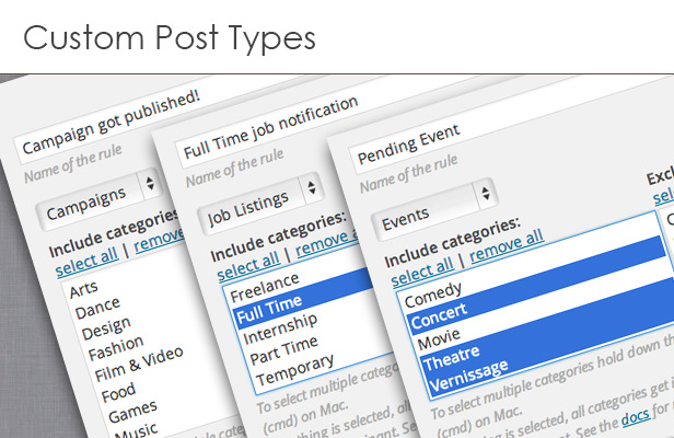 Supports Custom Post Types